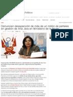 Denuncian Desaparición de Más de Un Millón de Pañales en Gestión de Ana Jara en Ministerio de La Mujer _ LaRepublica
