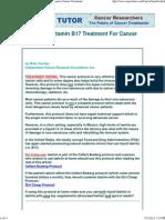 Laetrile _ Vitamin B17 Treatment for Cancer - Alternative Cancer Treatments