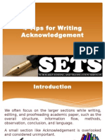 4 Tips for Writing Acknowledgement