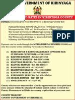 Waiver of Land Rates in Kirinyaga County