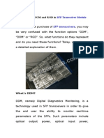 about ddm, dom and rgd in sfp transceiver module