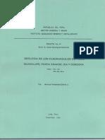 Geología - Cuadrangulo de Pisco