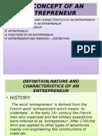 Concept of Entreprenuer Ch-2