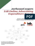 PwC IAB Online Advertising Expenditure Report Dec Qtr 2014 (1)