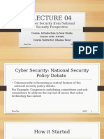 Cyber Security from National Security Perspective