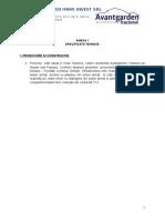 Specificatii Tehnice FARA Incalzire in Pardoseala_03.10.2014