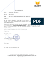 Format of Goldcrest p.o to Clients