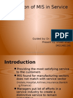 Mis in Service Sector by Shoaib Khan
