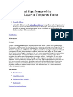 The Ecological Significance of the Herbaceous Layer in Temperate Forest Ecosystems