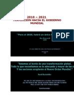 2010 - 2020 Transicion Hacia El Gobierno Mundial