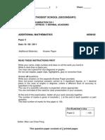 Fairfield Methodist_11 Prelims_A Maths_Paper 2