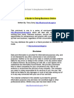 Doing Business Online-Internet Law And Your Business