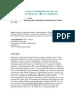 Percepción de Riesgo de Transmisión Del Virus de Inmunodeficiencia Humana