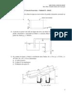 36453-2ª Unidade - 2ª Lista de Exercícios - Mecânica Dos Fluidos