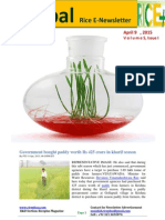 9th April,2015 Daily Global Rice E-newsletter by Riceplus Magazine