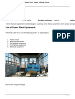 1760 Power Plant House Equipment List