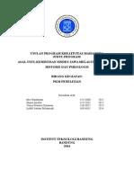 Laporan Kemajuan PKM-P Asal-usul Kemistisan Sinden