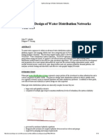 Optimal Design of Water Distribution Networks