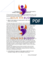 People Lie, Numbers Don't Approach to HR Analytics