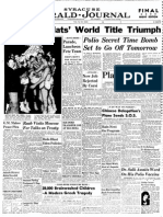 Front page of Syracuse Herald Journal April 11, 1965