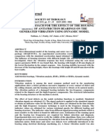 A Novel Approach for the Effect of the Housing Height of Anti-Friction Bearings on the Generated Vibration Using Dynamic Model