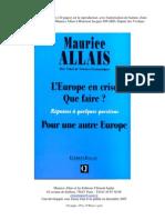 L'EUROPE EN CRISE, QUE FAIRE ?