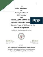 Retail Loan & Para Banking - Hdfc