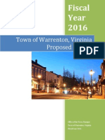 FY2016 Town of Warrenton Proposed Budget