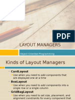 12 Layout Managers