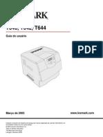 Manual Lexmark T644
