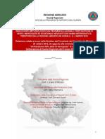 ABRUZZO. Relazione Stato Di Emergenza