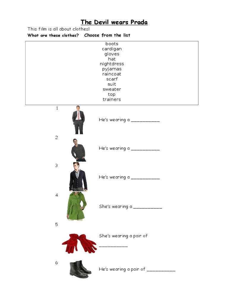 the devil wears prada worksheet. Black Bedroom Furniture Sets. Home Design Ideas