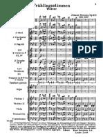 Strauss - Frühlingstimmen Full Score