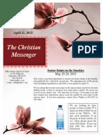 April 12 Newsletter