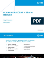 Plans for ECSAT - ESA in Harwell