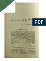 Fundacion de Zapatoca - Mario Acevedo - Revista Estudio 166-168, 1945