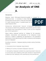 Manpower Analysis of ONE Bank Ltd.doc