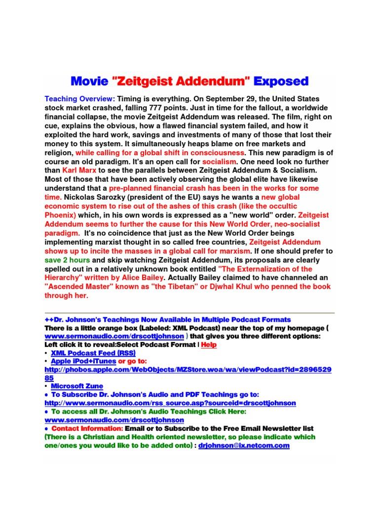 the 9 11 myth zeitgeist the movie