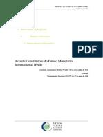 Acordo Constitutivo Do Fundo Monetário Internacional FMI