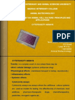 Animal Cell Culture -Cytotoxicity Assays