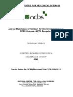 Tender Document Ncbs Amc 2014-15