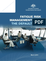 Aus Fatigue Management Plan Default 2013
