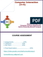 Lecture 1 Introduction HCI