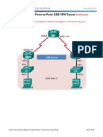 7.2.2.5 Lab - Configuring a Point-To-Point GRE VPN Tunnel - ILM