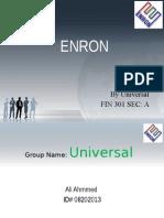 ENRON Presentation By IUBAT