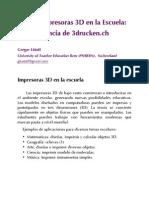 Uso de Impresoras 3d en La Escuela La Experiencia de 3drucken Ch Gregor Lc3bctolf1