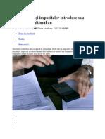 Lista Taxelor Şi Impozitelor Introduse Sau Majorate În Ultimul An