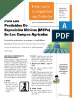 pesticidas de exposicion minima