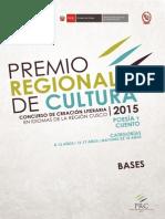 Bases Premio Regional de Cultura 2015