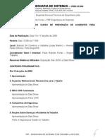 Relatório Treinamento de CIPA 2008-2009 - Engemat.doc
